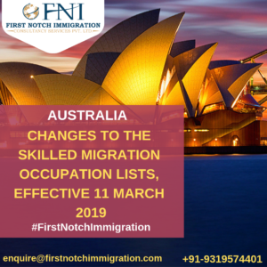 Latest Australia Skilled Occupation List Changes In 2019